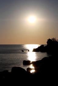 夕日ヶ浦の夕景