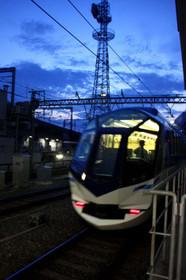 特急「しまかぜ」京都駅にて