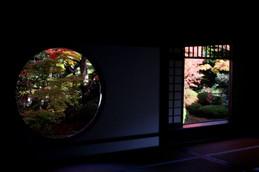源光庵「悟りの窓」と「迷いの窓」
