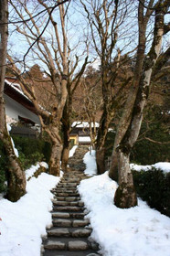 大原・寂光院の冬景色