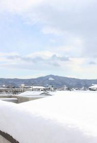61年ぶりの積雪と白い大文字