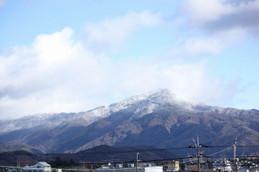 雪化粧の比叡山