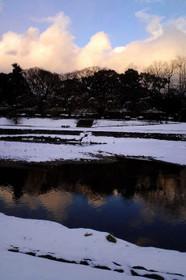 雪の賀茂川