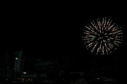 2015年国際会議場と宝ヶ池の花火