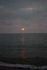 夕日ヶ浦の夕陽