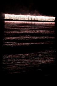 夕日ヶ浦納涼花火大会2015のラストを飾るナイアガラ