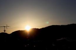 京都の夕陽2015年9月27日