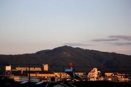 夕暮れの大文字山