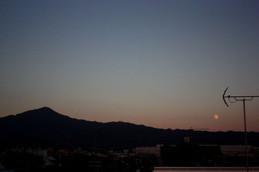 比叡山と中秋の名月