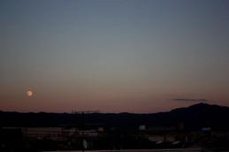大文字山と中秋の名月