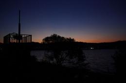 びわ湖大橋・夕方から夜へ