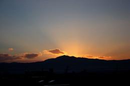 日の出直前の大文字山