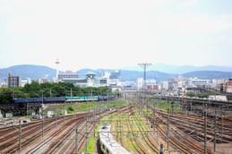 京都鉄道博物館から見る丹鉄「丹後の海」