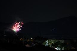 2016年「乾杯の夕べ」花火
