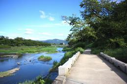 上賀茂御薗橋から見る大文字山