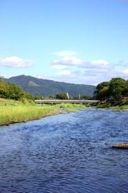 上賀茂御薗橋からの大文字山