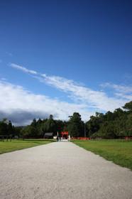 夏の終わりの上賀茂神社
