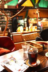 cafe町子でのんびりマンガ