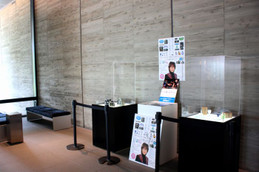 ヤンマーミュージアムに展示中の坂崎さんコレクション