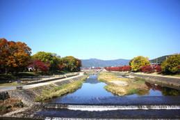 北山大橋から眺める賀茂川