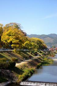 上賀茂橋から眺める西賀茂・船形