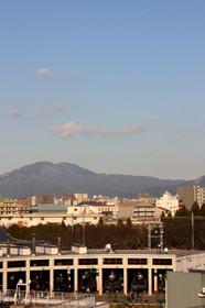 比叡山と大文字と蒸気機関車