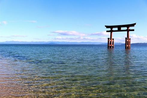 白鬚神社湖中大鳥居